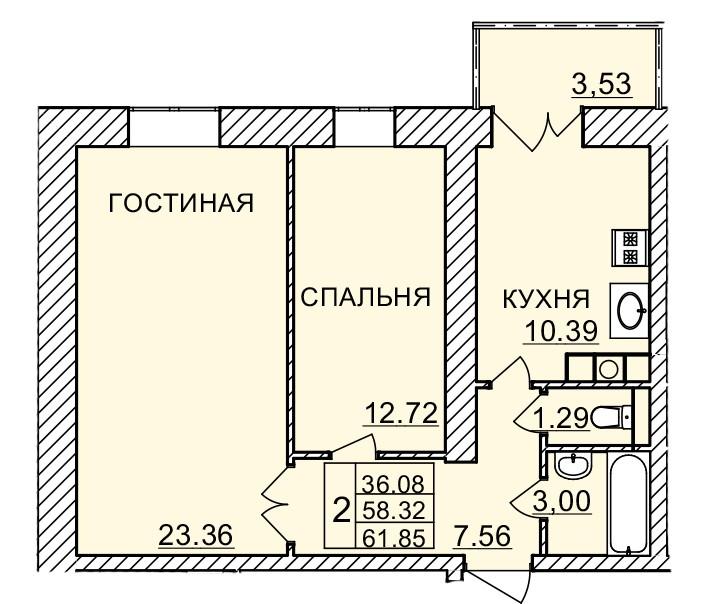 Киевское шоссе, д. 58, кв.488