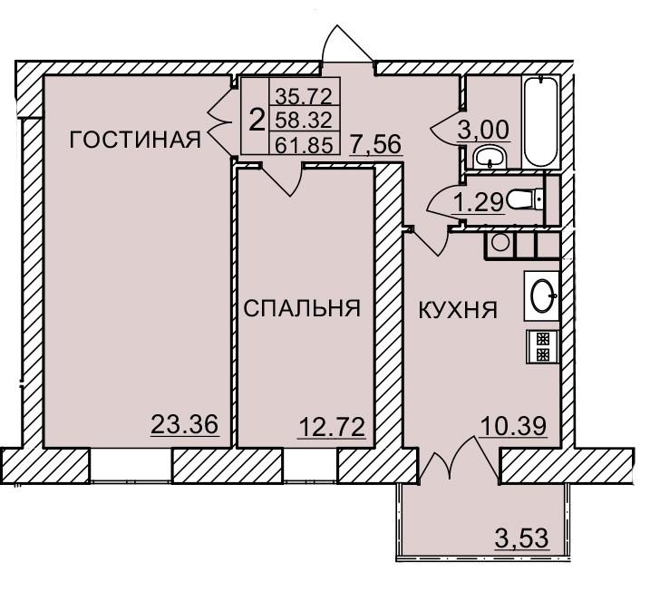 Киевское шоссе, д. 58, кв.495
