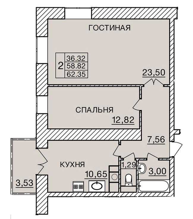 Киевское шоссе, д. 60, кв.23