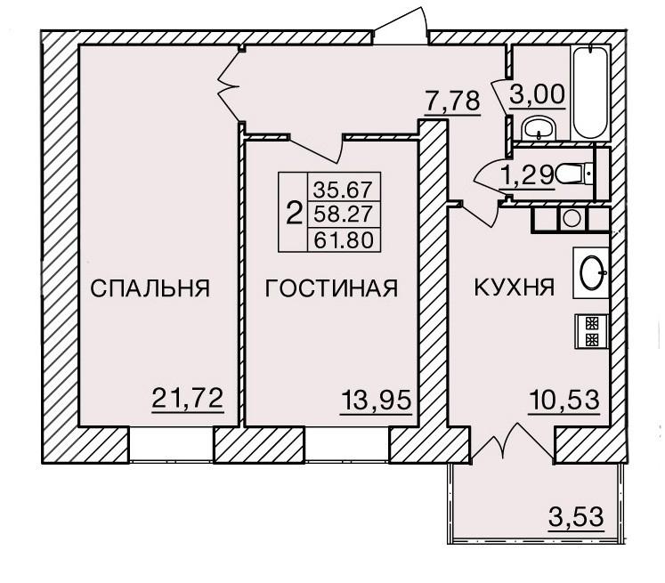 Киевское шоссе, д. 60, кв.52