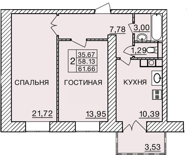 Киевское шоссе, д. 60, кв.76