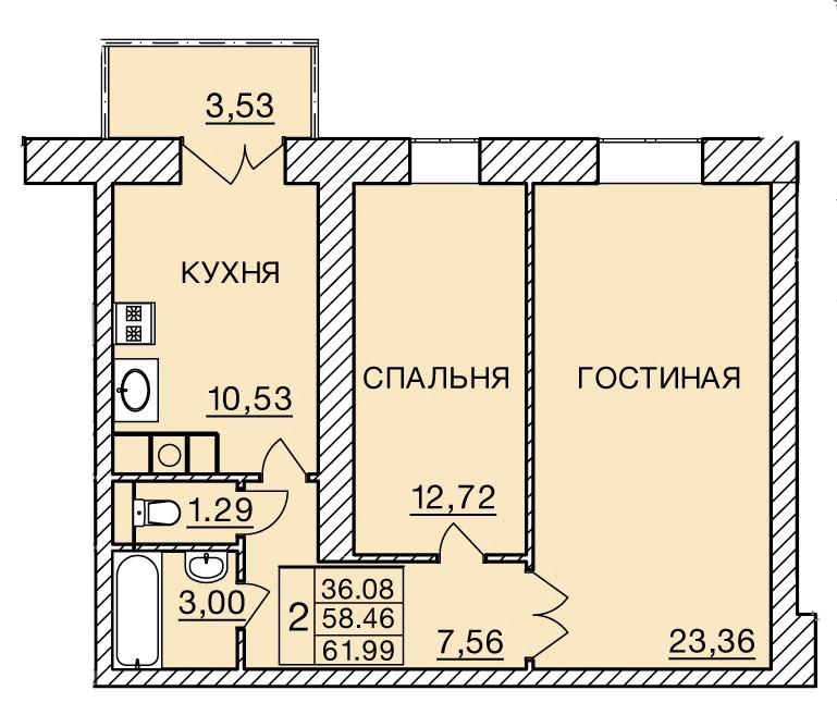 Киевское шоссе, д. 60, кв.195