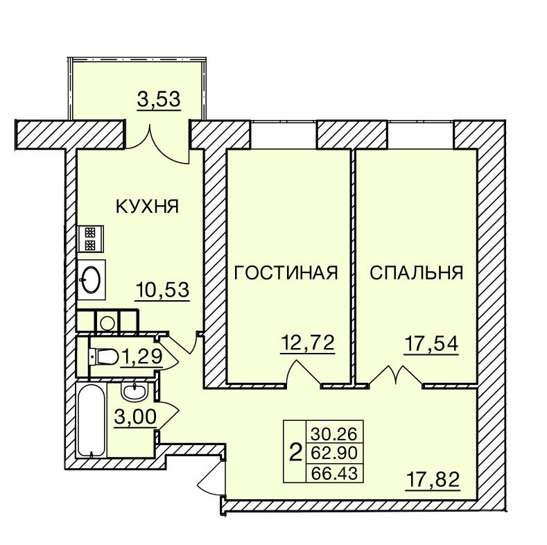 Киевское шоссе, д. 60, кв.197