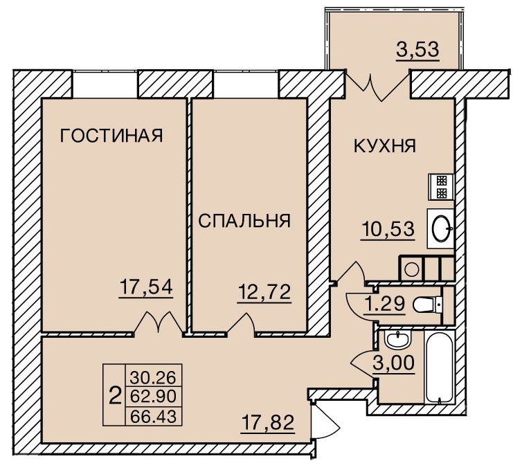Киевское шоссе, д. 60, кв.214