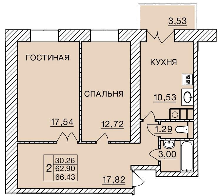 Киевское шоссе, д. 60, кв.244