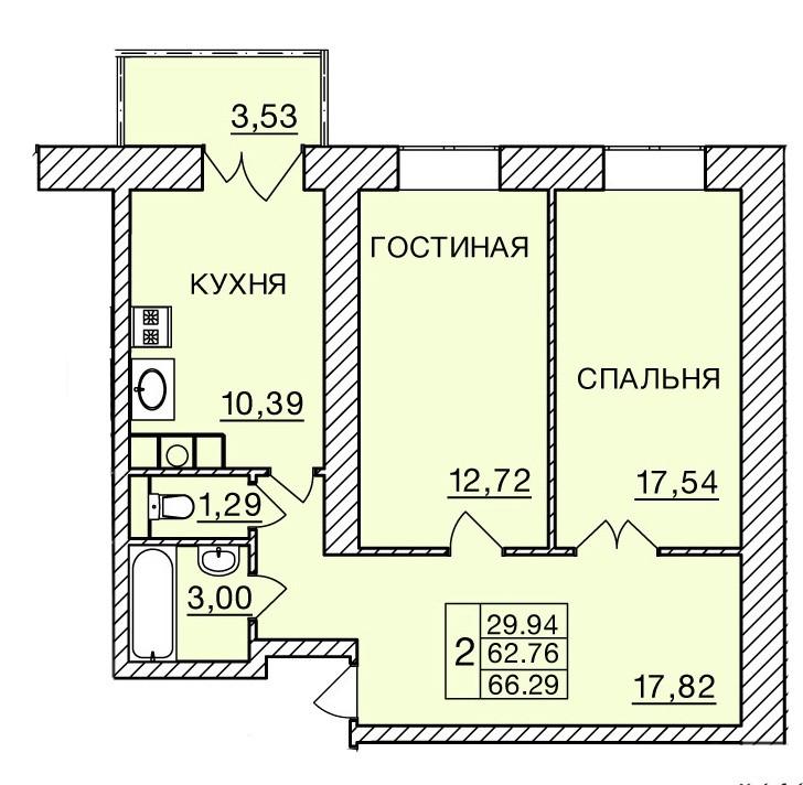 Киевское шоссе, д. 60, кв.257