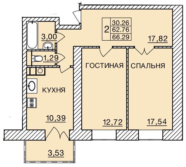 Киевское шоссе, д. 60, кв.258