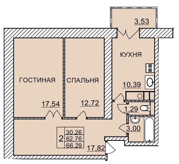 Киевское шоссе, д. 60, кв.264