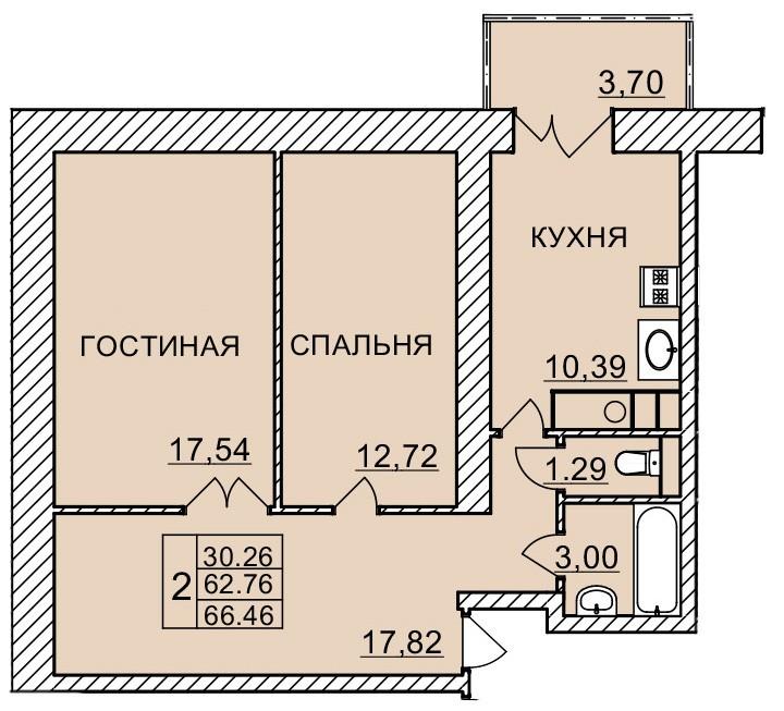 Киевское шоссе, д. 60, кв.1122