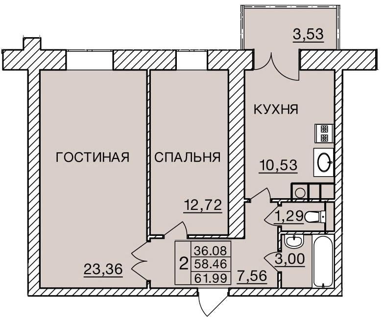 Киевское шоссе, д. 60, кв.275