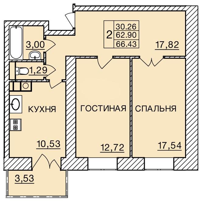 Киевское шоссе, д. 60, кв.277
