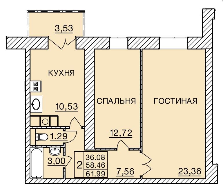 Киевское шоссе, д. 60, кв.284