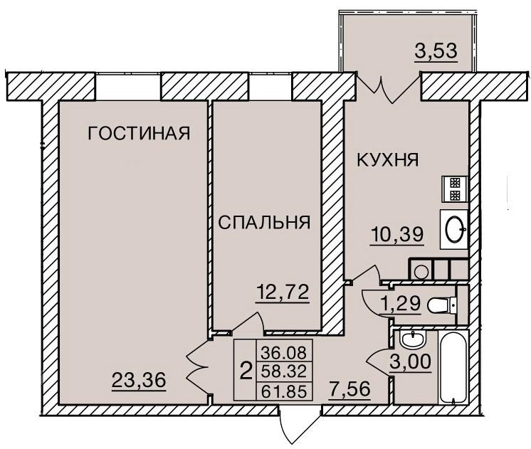 Киевское шоссе, д. 60, кв.345