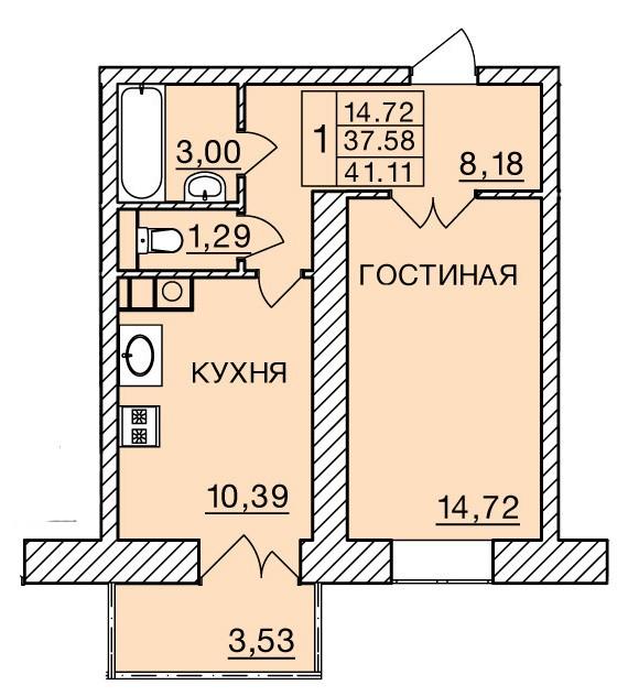 Киевское шоссе, д. 60, кв.349
