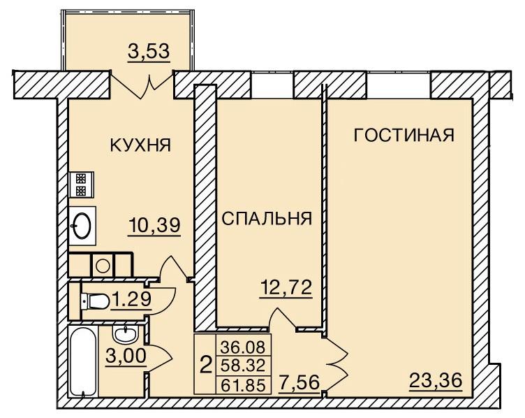 Киевское шоссе, д. 60, кв.354